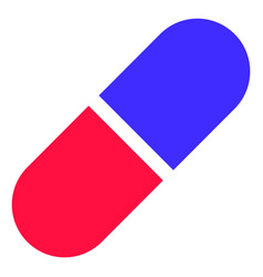 Medication pill icon vector