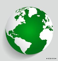 Modern green globe vector