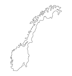 Norway map vector