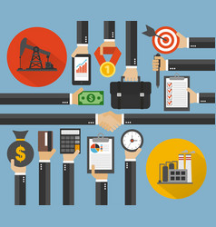 oil business management modern concept design flat vector image