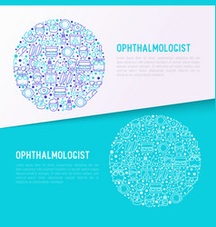 ophthalmologist concept in circle vector image