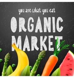 Organic food market vector