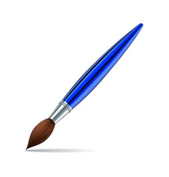 Paint brush on white background vector