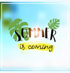 palm summer coming blurred sea bokeh beach vector image