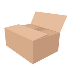 paper box flat style front vector image