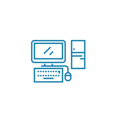 personal computer linear icon concept personal vector image