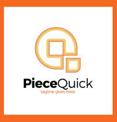 Quick piece - letter q logo vector