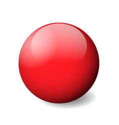 Red glossy sphere ball or orb 3d object vector