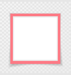 retro pink photo frame with shadows vector image