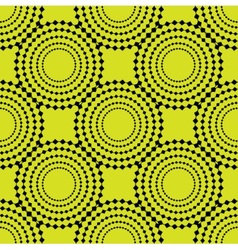 seamless background with abstract black circles vector image