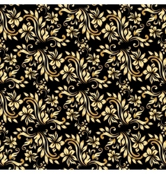 Seamless pattern with luxury damask ornament on vector image