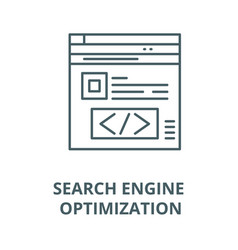 search engine optimization line icon vector image