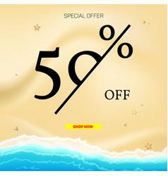 Selling ad banner vintage text design summer vector
