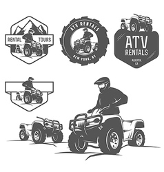 Set atv labels badges and design elements vector