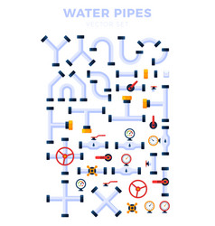 set pipes different types isolated on white vector image