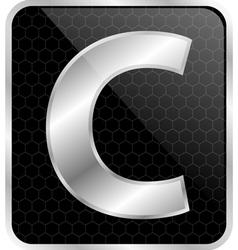 Silver typographic c vector