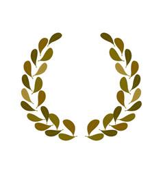 simple realistic leaf frame for vintage logo vector image