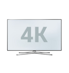 smart tv 4k lcd monitor isolated on white vector image