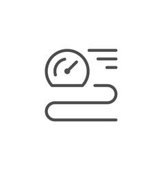 Speed line icon vector