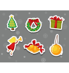 Sticker collection of presents vector image