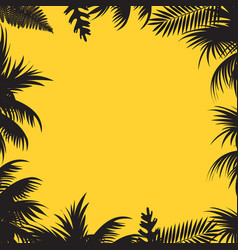 summer sales background with palm tree leaves vector image