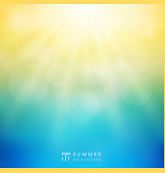 Summer season sunlight with bokeh in sky vector