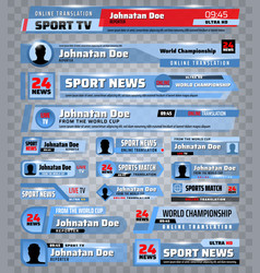 tv bars sport news broadcast streaming banners vector image