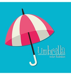 Umbrella design over blue background vector image