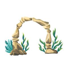 underwater sandstone arch natural underwater vector image