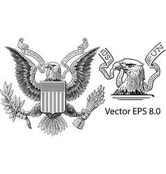 Us dollars eagle vector