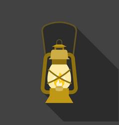 vintage hurricane lantern icon vector image