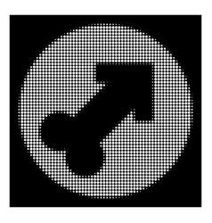 white halftone erection icon vector image