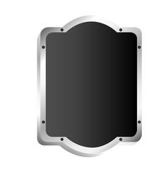 Black silhouette elegant rectangle rounded vector
