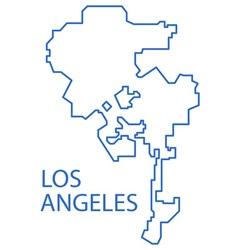 Los angeles map vector