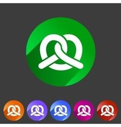 Pretzel bakery icon flat web sign symbol logo vector image