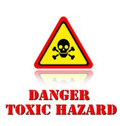 yellow warning danger toxic hazard icon background vector image
