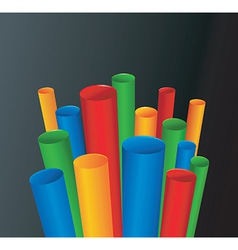3D Pipes background vector image