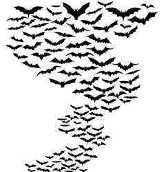 Bats flying around vector image vector image