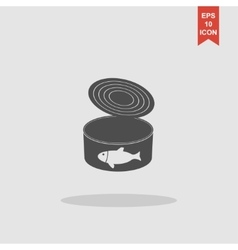 cans - canned food concept vector image