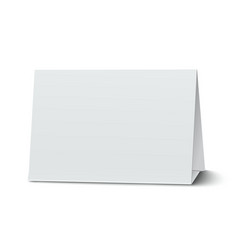 Horizontal blank paper table card isolated vector image