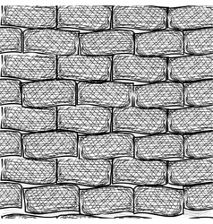 Old bricks Seamless Doodle style vector image