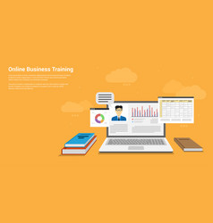 online business training vector image