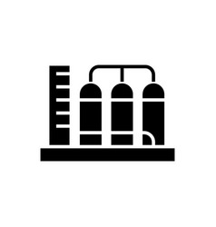 tanks icon black sign on vector image