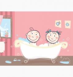 Children's bath vector image vector image
