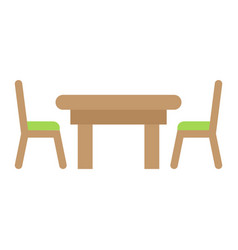 dining table flat icon furniture and interior vector image vector image