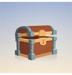 Empty Wooden Chest vector image