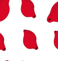 red lemons pattern vector image vector image