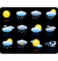 weather background icon vector image vector image