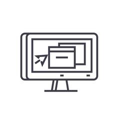 3d monitor application design icon vector image