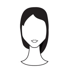 abstract woman avatar vector image